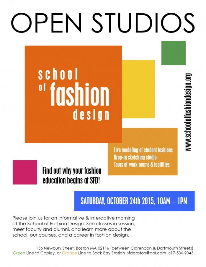 School Of Fashion Design Open Studios Back Bay Association