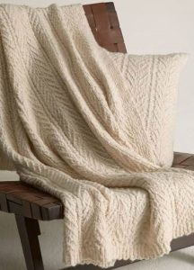 Back Bay Gift Guide: Cable-Knit Wool and Cashmere Blanket, Vince