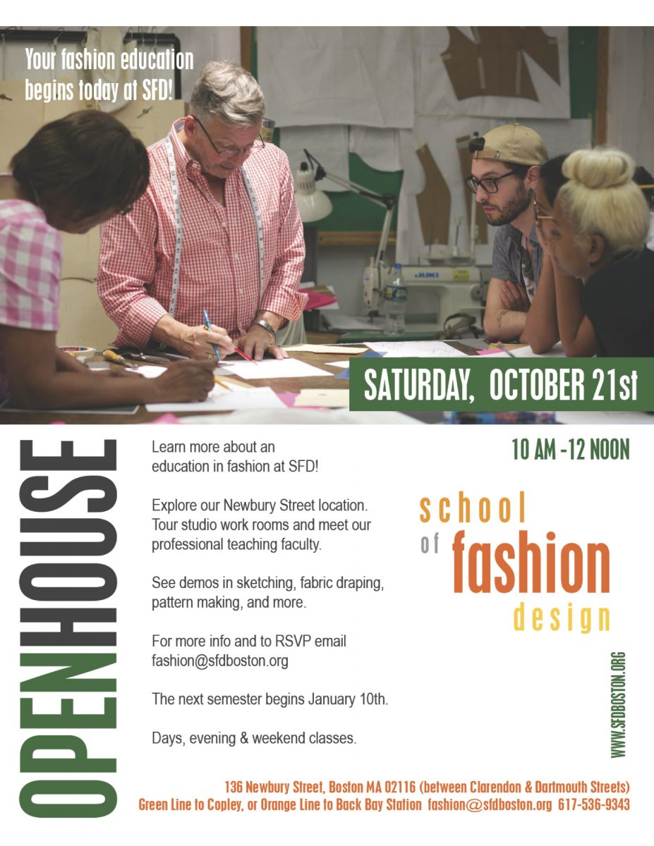 School Of Fashion Design Open House