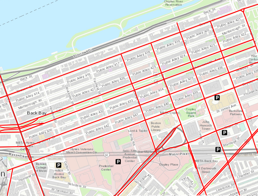 back bay boston map Advisory Snow Emergency Starts At 7 Am back bay boston map