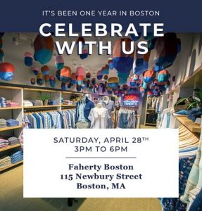 Faherty 1-Year Anniversary Party @ Faherty | Boston | Massachusetts | United States