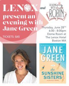 An Evening with Author Jane Green @ The Lenox Hotel | Boston | Massachusetts | United States