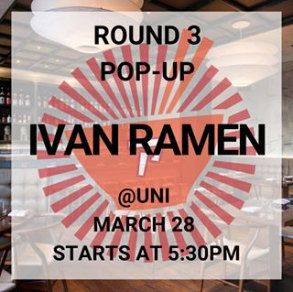 Ivan Ramen Pop-Up at UNI Boston @ UNI Boston