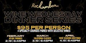 California Classics Wine Dinner at Rochambeau @ Rochambeau | Boston | Massachusetts | United States